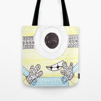 minion Tote Bags featuring minion by di yirou