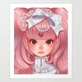 Lolita in my heart Art Print