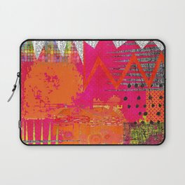 Hot Stuff Abstract Art Collage Laptop Sleeve