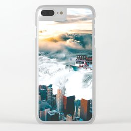 Rising Seas Clear iPhone Case