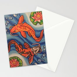 Two Koi One Pond Stationery Cards