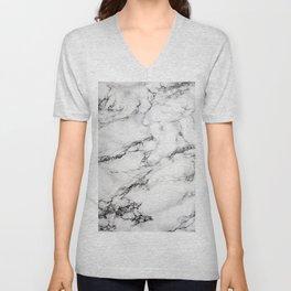 Greyish White Marble Unisex V-Neck