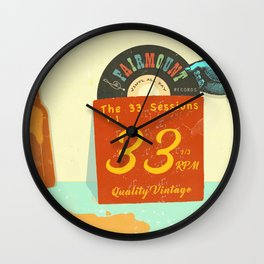 VINTAGE RECORDS Wall Clock