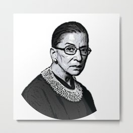 The Honorable Ruth Bader Ginsburg Metal Print