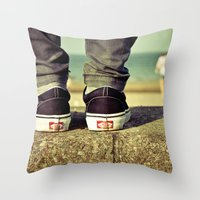 vans Throw Pillows featuring vans II. by Zsolt Kudar