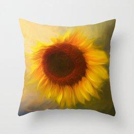 Sunflow Love 2 Throw Pillow