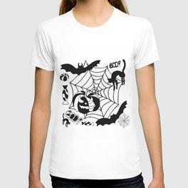 Halloween themed illustratio T-shirt
