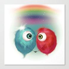 Hello Earthling - love Canvas Print