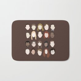 the office minimalist poster Bath Mat