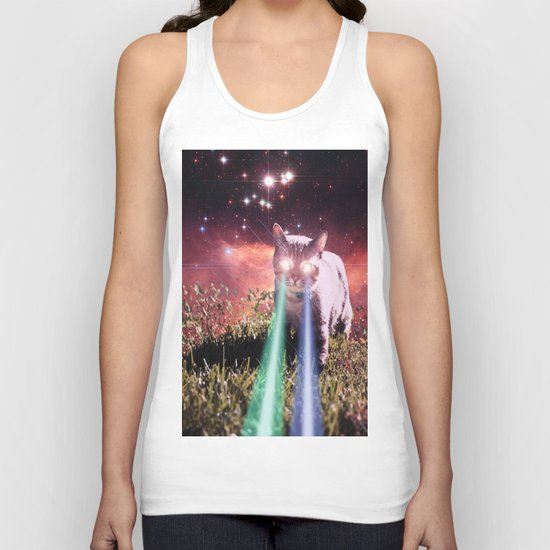 Mega Space Cat Rising Unisex Tank Top
