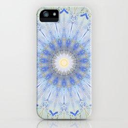 Crystal Blue Decorative Mandala iPhone Case