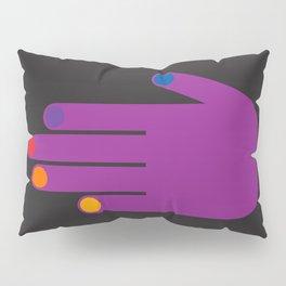 Purple Pop Hand Pillow Sham