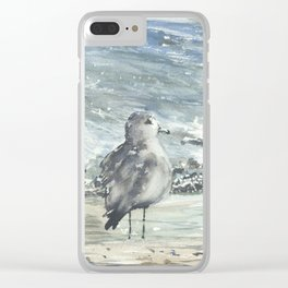 Seagull, Watercolour Clear iPhone Case