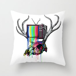 COLORS TV Throw Pillow