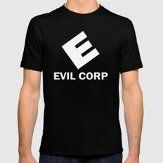 Evil Corp Black Mens Fitted Tee LARGE
