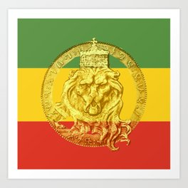 Conquering Lion of Judah Reggae Master Art Print