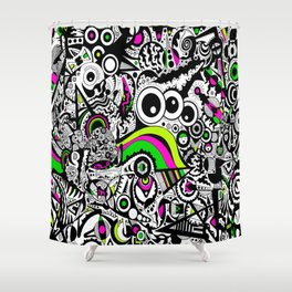 Looking in the three eyes Shower Curtain