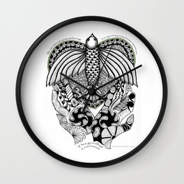 This goodbye is not forever Sympathy  - Zentangle Illustration Wall Clock