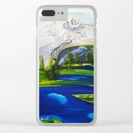 Point Success, Mount Rainier, Seahawks, Seattle, Northwest, NFL, 12thman Clear iPhone Case