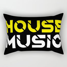 House Music Rectangular Pillow