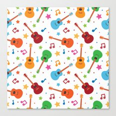 Guitars and Stars Canvas Print