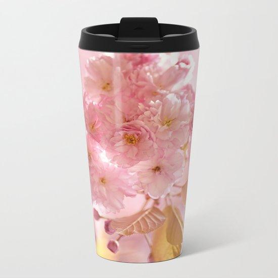 Sakura - Cherryblossom - Cherry blossom - Pink flowers on #Society6 Metal Travel Mug