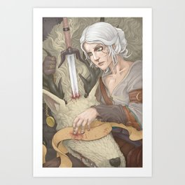 Cirilla and the Vicar Art Print
