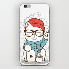 Hipster Kitty iPhone & iPod Skin