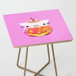 Pumpkin Cat Side Table