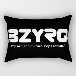 BZYRQ Logo (White on Black) Rectangular Pillow