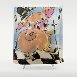 Pig Jig Shower Curtain