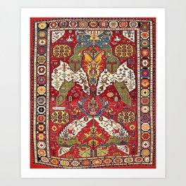 Dragon Sumakh Kuba East Caucasus Rug Print Art Print