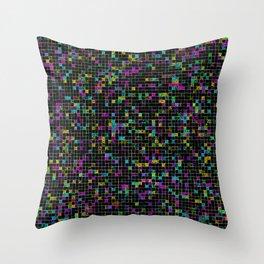 Glitch Grid Throw Pillow
