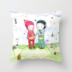 Winter love Throw Pillow