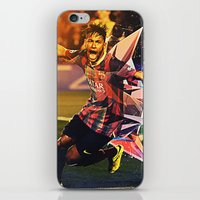 neymar iPhone & iPod Skins featuring Neymar by Max Hopmans / FootWalls