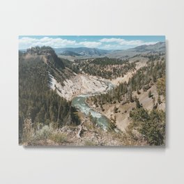 Calcite Springs, Yellowstone National Park, Wyoming Metal Print
