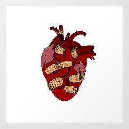 Band-Aid Heart  Art Print