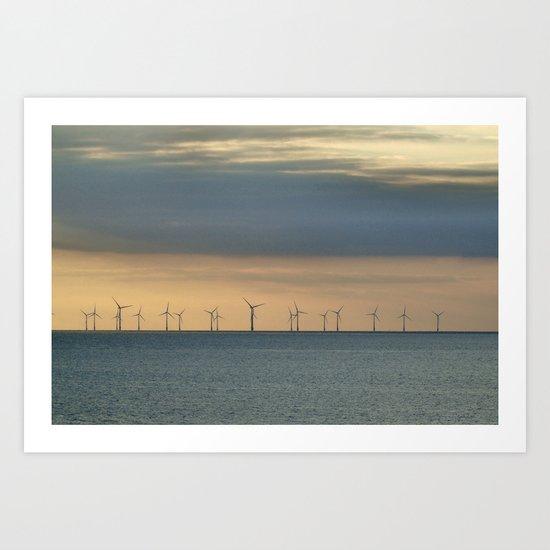 Off shore Art Print
