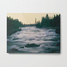 Flowing water in a river Metal Print