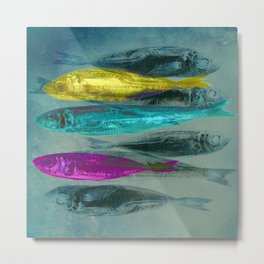 3 sardines Metal Print
