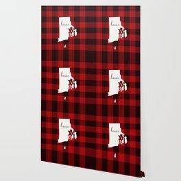 Rhode Island is Home - Buffalo Check Plaid Wallpaper