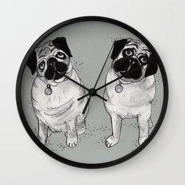 Pug Duo Wall Clock