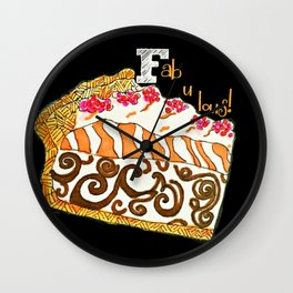 F is for Fabulous Wall Clock