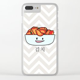 Happy Kimchi Kimchee Bowl Cabbage pickled spicy Korean Clear iPhone Case