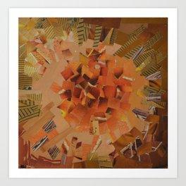 """""""The Hot Energy"""" Ecologic atypic art - 1/3 - by WHITEECO Ecologic design Art Print"""