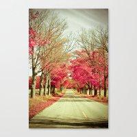 wanderlust Canvas Prints featuring Wanderlust by Olivia Joy StClaire