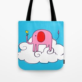 The Pink Elephant of Gratitude Tote Bag