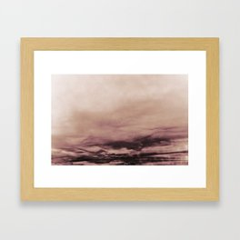 PINK & GOLD & BLACK TOUCHING #1 #abstract #decor #art #society6 Framed Art Print