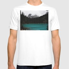 The mountains are calling MEDIUM Mens Fitted Tee White