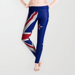 New Zealand Flag Patriotic Leggings